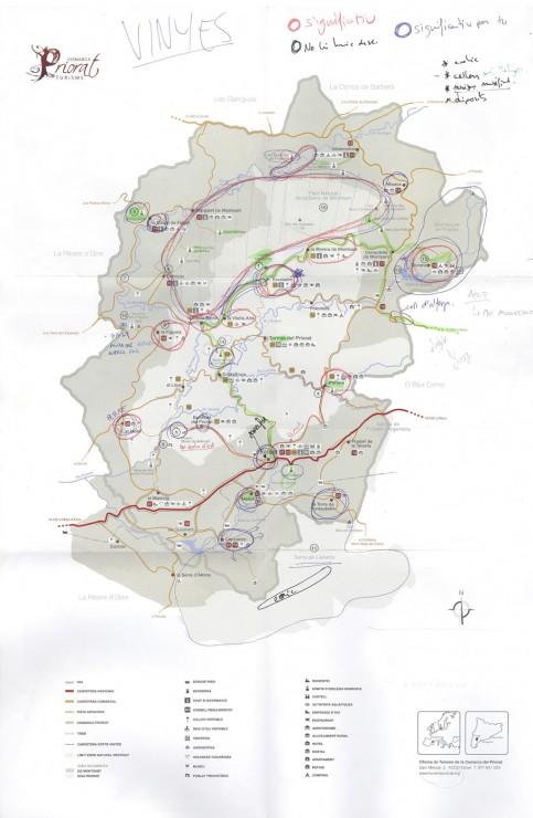 Mapa Priorat